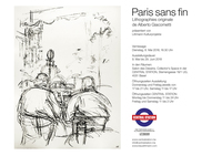 translation not available – Vernissage Alberto Giacometti «Paris sans fin», Dienstag, 8.5.18, 18:30