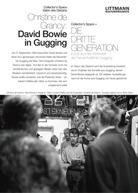 Christine de Grancy «DAVID BOWIE IN GUGGING» in den Räumen Collector's Space und Salon des Dessins