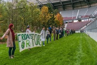 Fridays for Future-Demo im For Forest-Stadion