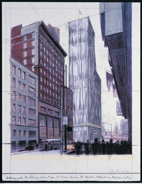 Wrapped Building, project for nr 1 Times Square, 42nd Street and Broadway, New York City