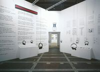 translation not available – The words room at the exhibition in Basel 2003