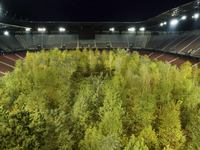 """For Forest - The Unending Attraction of Nature"", a temporary Art Intervention by Klaus Littmann. Wörthersee Stadium Klagenfurt 